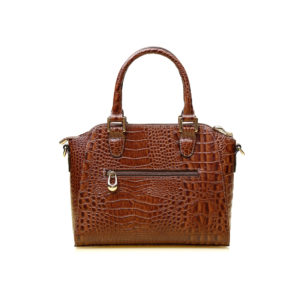 Mini Bag Zurique Croco Caramelo