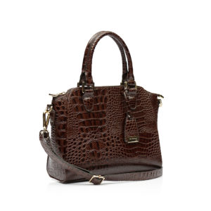 Mini Bag Zurique Croco Marrom